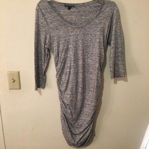 Express ruched t shirt dress